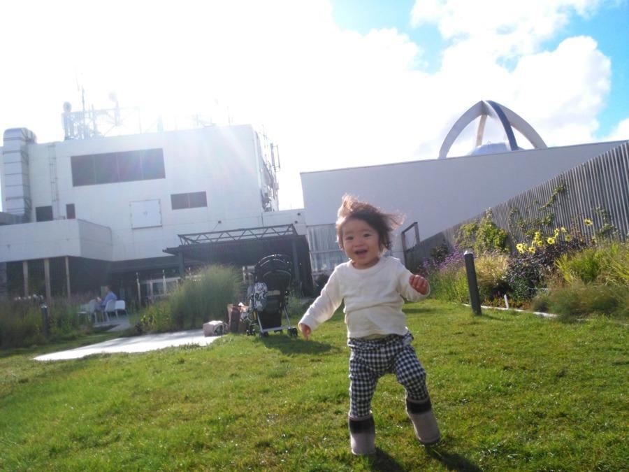 芝公園二丁目保育園の写真1枚目:人工芝が気持ちの良い屋上庭園のある保育園です!※写真はイメージです。