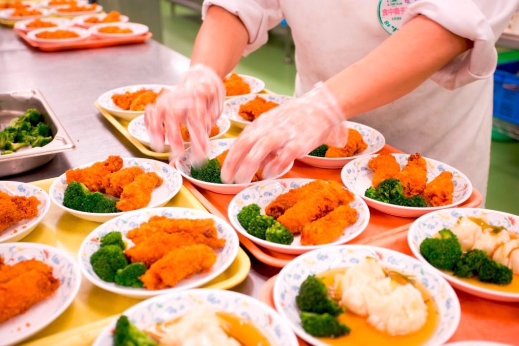 日本ゼネラルフード株式会社 ニチイケアセンター流山内の厨房の画像
