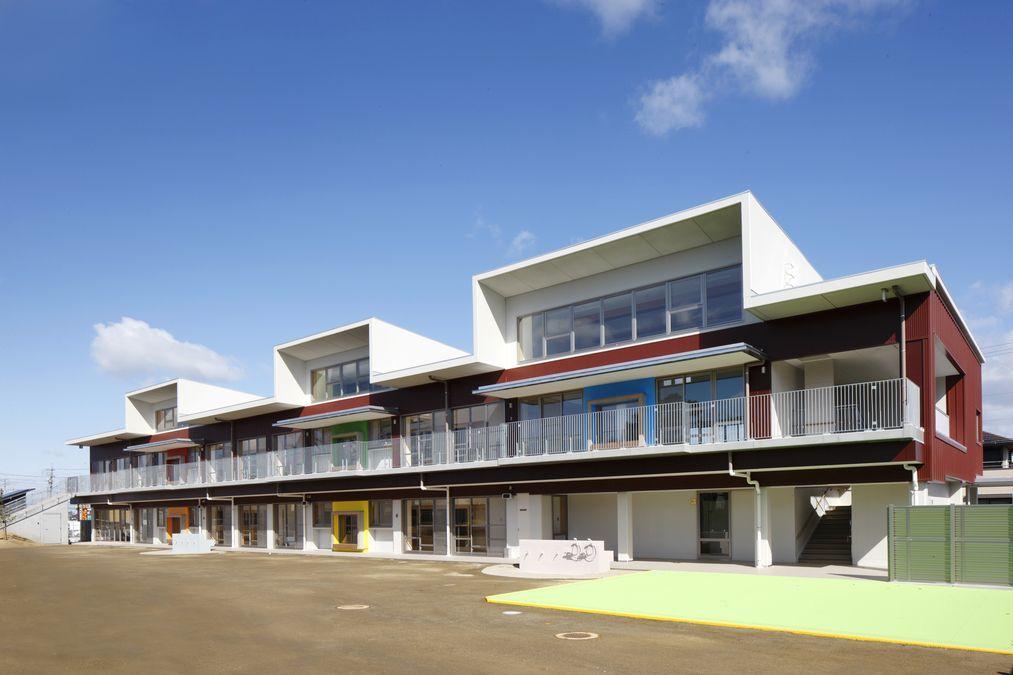 アートチャイルドケア瀬戸幡山西保育園(保育士の求人)の写真:2016年4月にできた園舎です