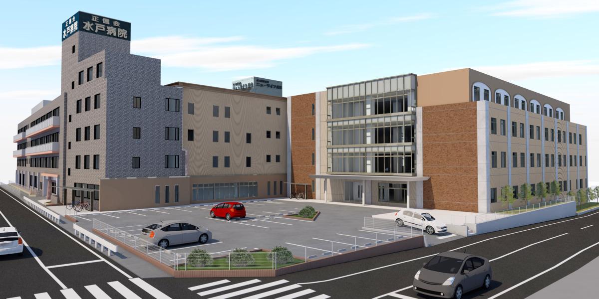 水戸病院(看護助手の求人)の写真1枚目:2021年春、新棟完成予定★ 一緒に新たなスタートを切りませんか?