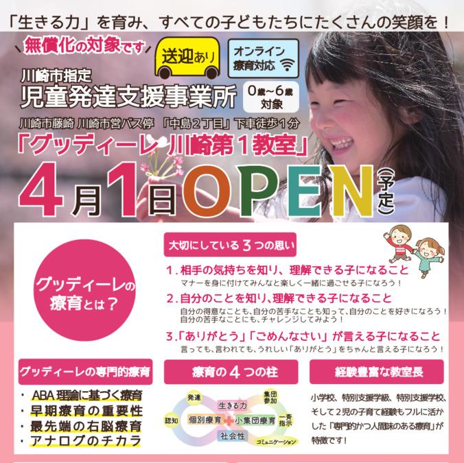 グッディーレ川崎第1教室【2021年04月01日オープン】(言語聴覚士の求人)の写真: