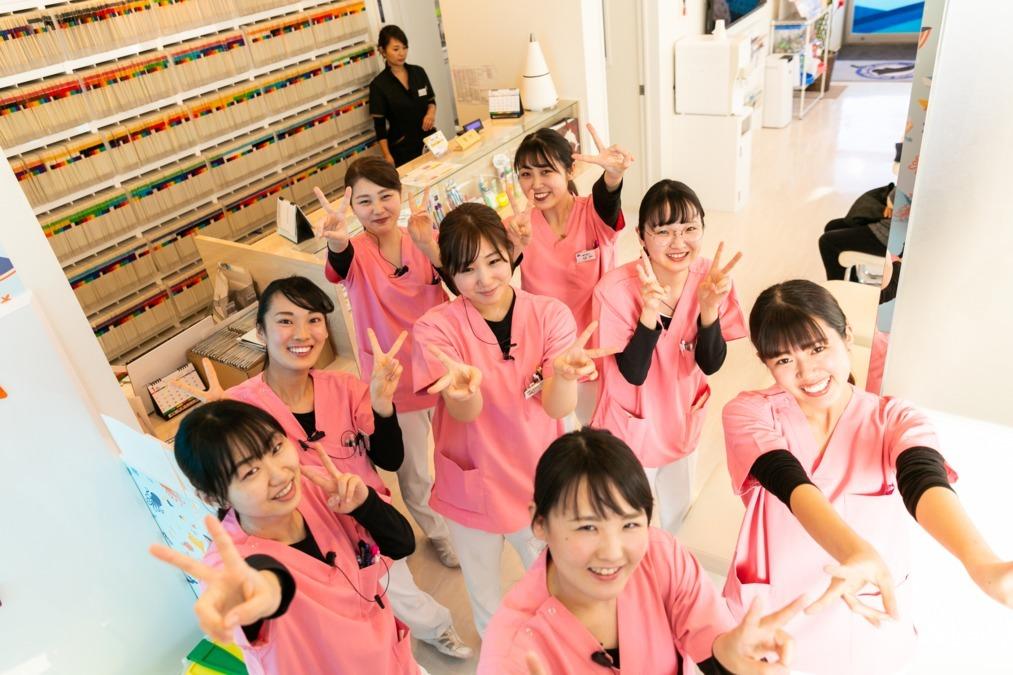 長浦マリン歯科(管理栄養士/栄養士の求人)の写真:受付スタッフも元気いっぱい