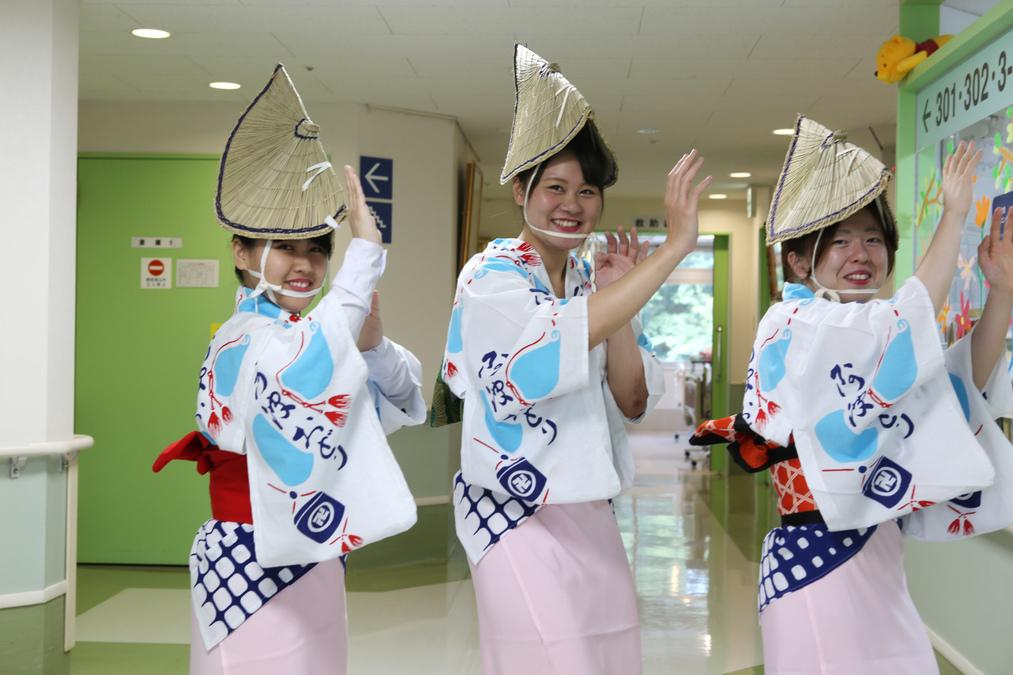 横浜病院(看護師/准看護師の求人)の写真:秋には「もみじ祭り」を開催。スタッフも阿波踊りでお祭りに華を添えます。