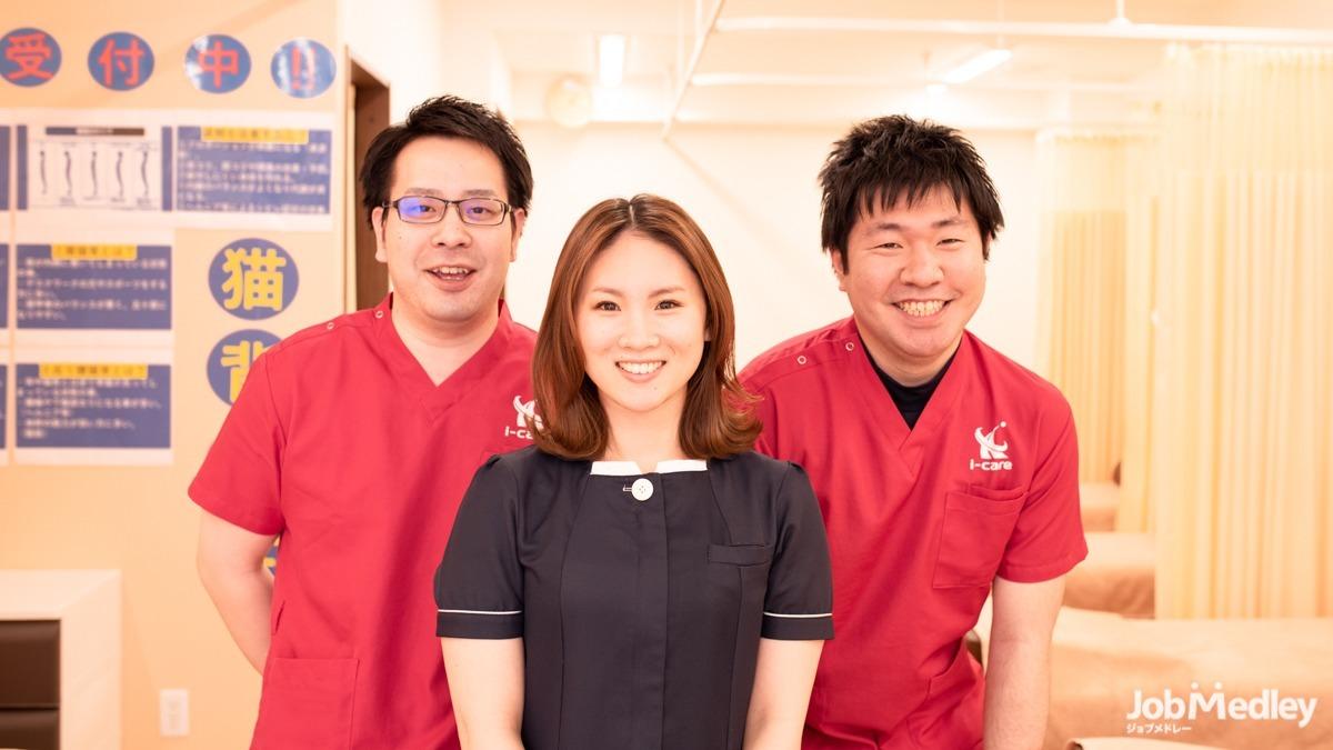 i-care整骨院 南行徳院(鍼灸師の求人)の写真1枚目:チームワークを大切にしながら勤務できます