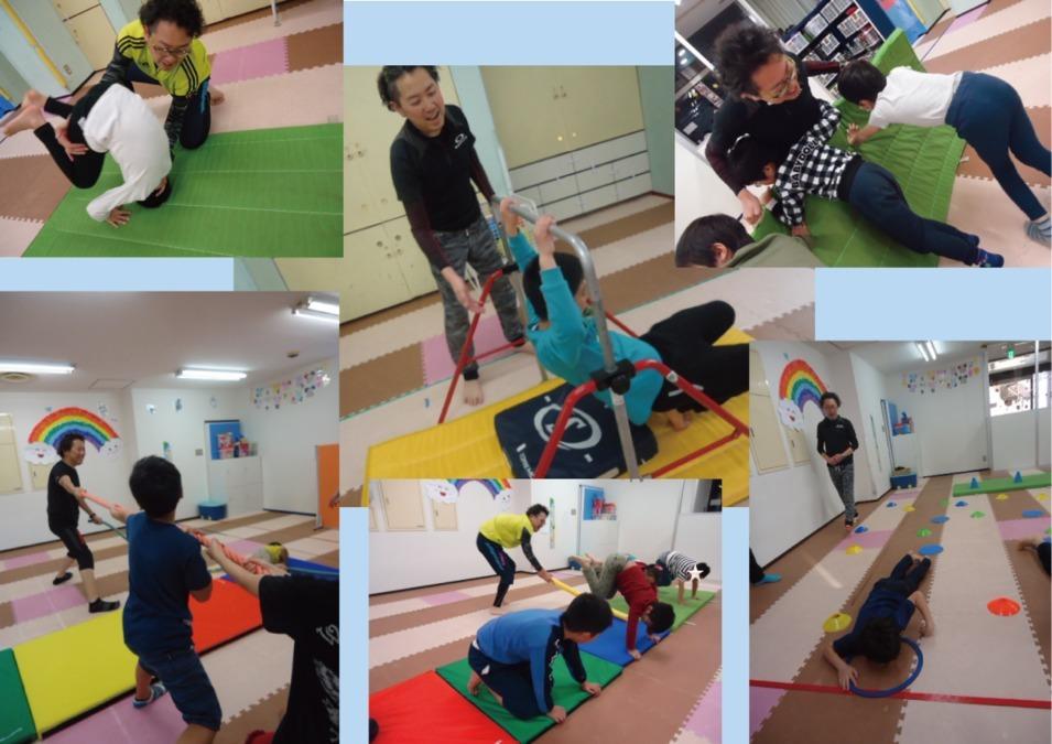 プラスアップ船橋教室(児童指導員の求人)の写真1枚目:子供達と毎日楽しく運動遊びを行っています。