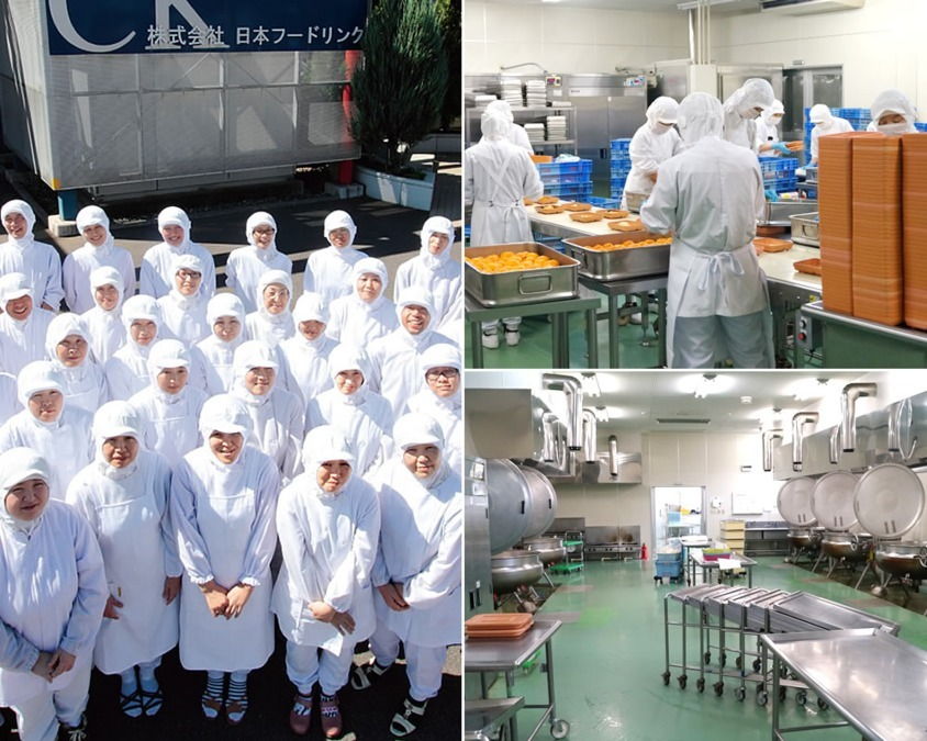 株式会社日本フードリンク かもしか病院内の厨房の画像