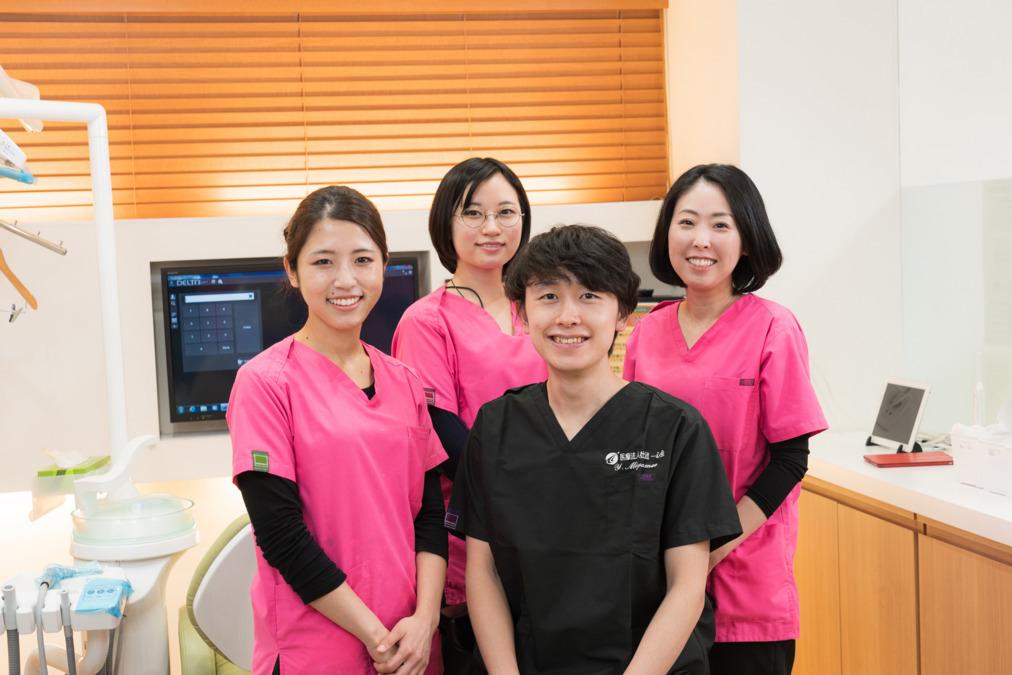 菊水アロー歯科(歯科助手の求人)の写真:仲間を大切に、チームワークを大切に、働くみんなが笑顔になる医院作りをしています。