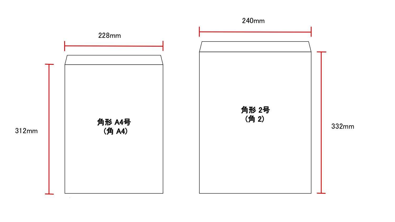 封筒サイズ比較