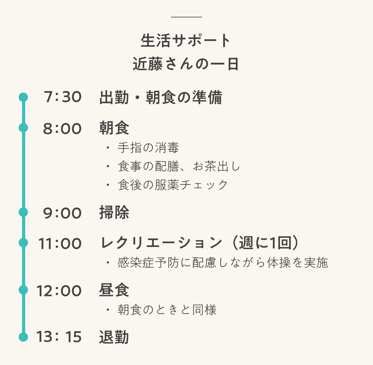学研ココファン日吉7丁目 生活サポート 近藤さんの一日