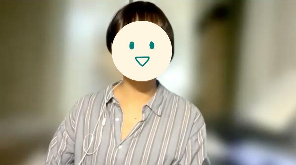 介護職歴7年Nさん(28歳女性)の取材中カット